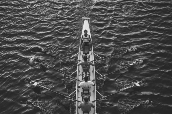 San Diego Crew Classic, black and white rowers
